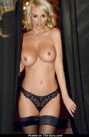 Perfect Blonde with Perfect Open D Size Balloons in Lingerie, Stockings & Panties (Hd Xxx Foto)