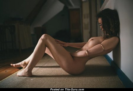 Image. Nude nice female with medium natural boobies picture