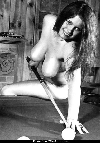 Naked nice female with big natural tittes vintage