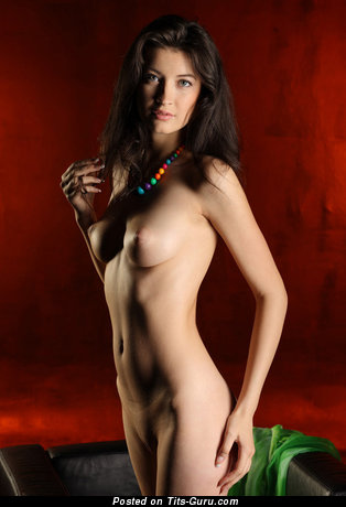Image. Naked awesome female with medium natural breast picture