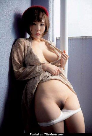 Sexy naked asian with medium natural boobs image