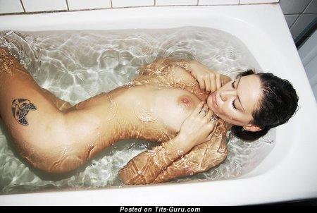 Image. Wet naked brunette picture