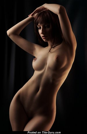 Image. Naked hot woman with medium natural breast photo