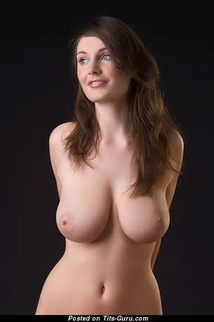 Image. Naked wonderful female with big natural tittes photo