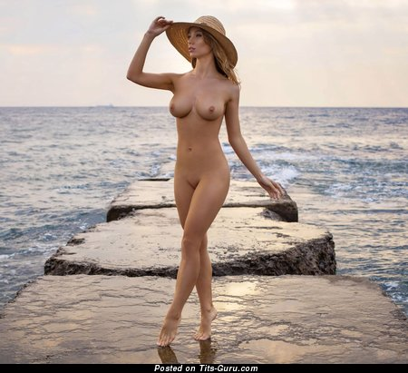 Image. Sexy naked nice female with medium natural breast photo