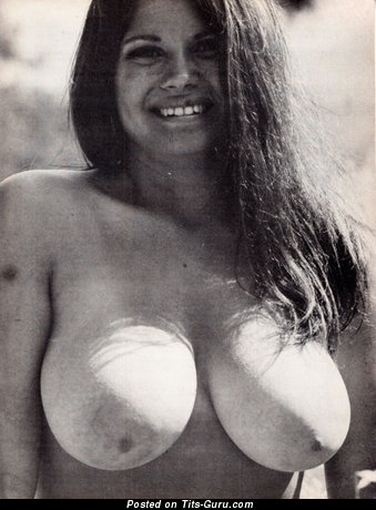 Image. Nude awesome female with big natural tittes vintage