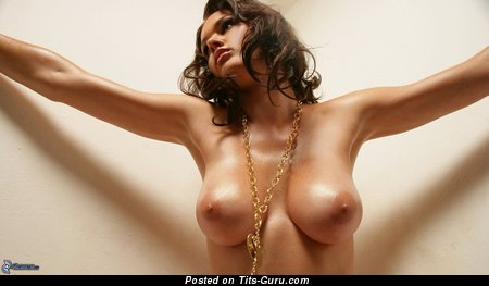 Image. Nude brunette with big boobs photo