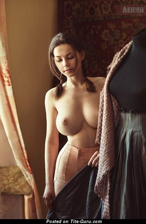 Ksyusha Egorova - sexy nude nice lady with medium natural boob pic