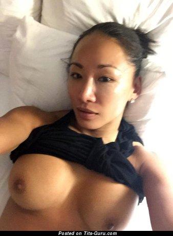 Gail Kim - Pretty South Korean, Canadian Brunette with Pretty Nude Round Fake Boobie (Hd 18+ Photoshoot)