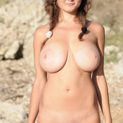 Beautiful woman with big natural boobs photo