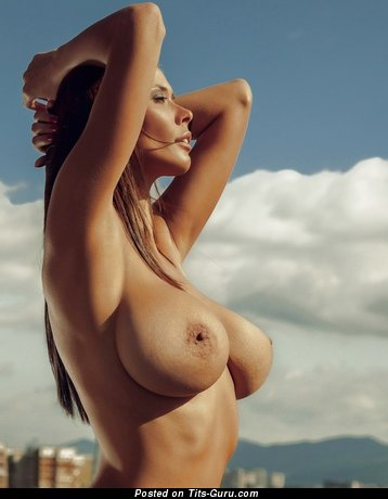 Bilyana Evgenieva - Gorgeous Topless Bulgarian Babe with Gorgeous Exposed Natural Very Big Jugs (Sexual Pic)