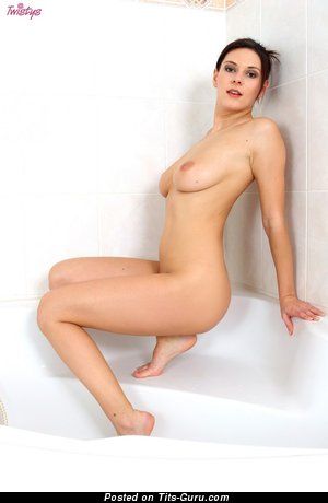 Naked nice girl with natural tots image