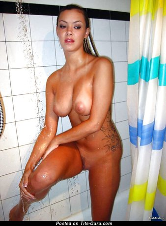 Nude awesome female with big natural tittes image