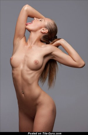 Image. Nude red hair with medium natural boobs image