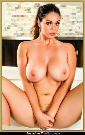 Image. Alison Tyler - sexy topless brunette photo