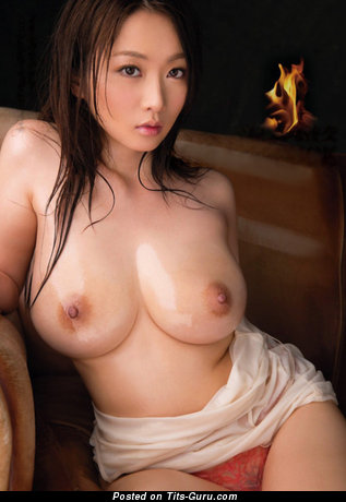 Image. Sexy naked asian brunette with big boob photo