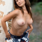 Beautiful lady with medium natural breast picture