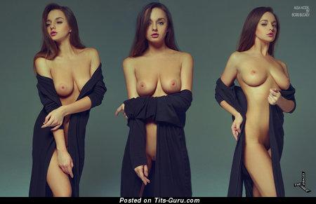 Alisa Model - Sweet Miss with Sweet Bald Natural Big Boob (Hd Xxx Photoshoot)