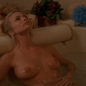 Wet blonde with medium boobies picture