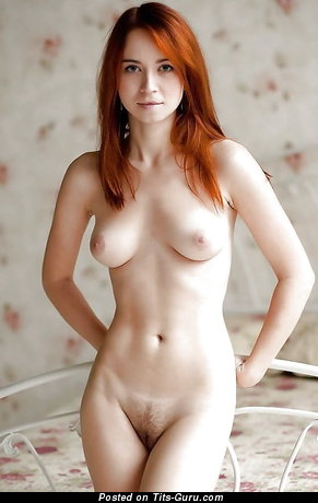 Dazzling Red Hair with Dazzling Defenseless Natural A Size Boobies (Xxx Picture)