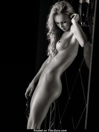 Image. Blonde with medium boobies photo
