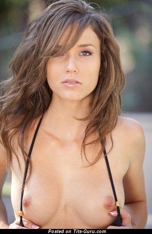 Image. Malena Morgan - red hair with medium natural boob photo