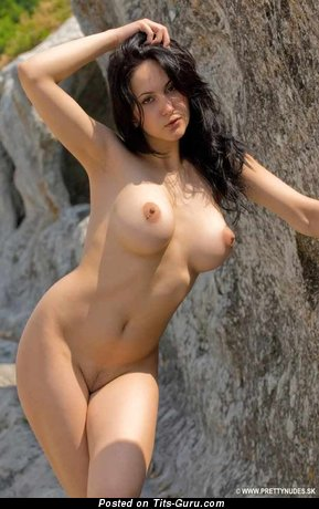 Naked brunette big boobs