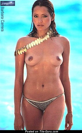 Barbara Carrera - Stunning Latina Red Hair Actress with Stunning Nude Natural Tiny Balloons (Hd Xxx Foto)