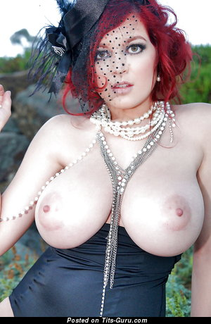 Stunning Red Hair Babe with Stunning Bald Very Big Hooters & Giant Nipples (Hd 18+ Picture)