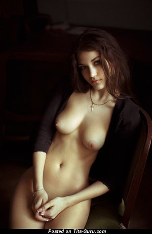 Image. Nude amazing lady with medium natural boobies pic