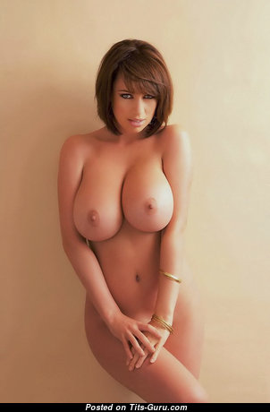Sophie Howard - Exquisite British Red Hair with Exquisite Nude Sizable Boobies & Sexy Legs is Smoking (Sexual Image)
