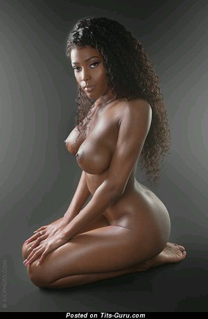 Image. Naked ebony with big tittys image