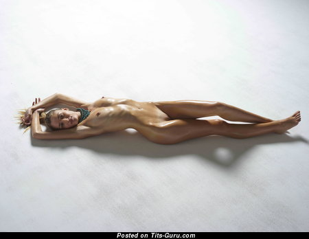 Image. Nude beautiful lady with medium natural tots picture