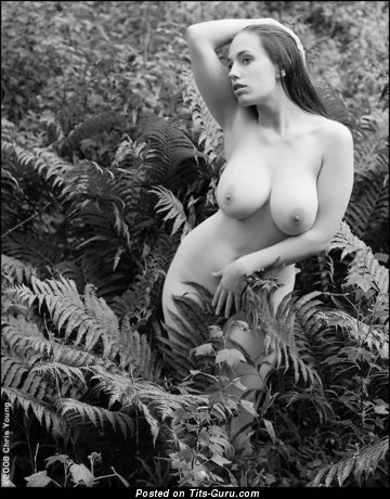 Image. Naked beautiful female with big natural breast pic