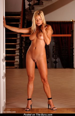 Adriana Malkova - Gorgeous Czech Blonde Babe with Gorgeous Bare Real Regular Hooters in High Heels is Doing Fitness (18+ Pix)