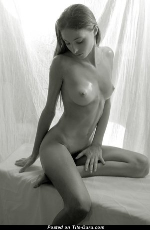 Image. Nude wonderful girl with medium natural breast picture