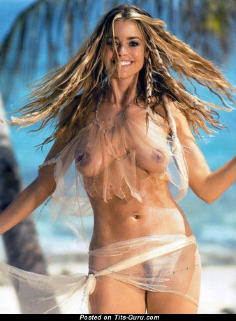Denise Richards - Pretty American Red Hair Actress & Babe with Pretty Nude Natural Average Boobies (Hd Sex Image)