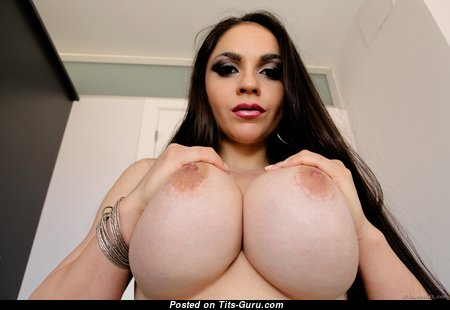 Marta La Croft - Perfect Topless Spanish Brunette Pornstar with Perfect Open Substantial Boobs (Hd Porn Image)