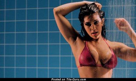 Image. Wet naked latina brunette photo
