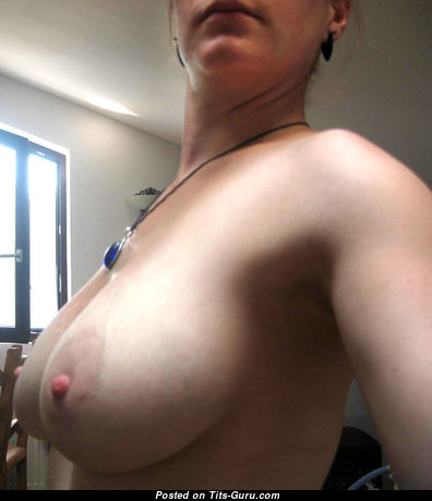 Julia - Yummy Topless Girlfriend, Mom, Wife & Housewife with Yummy Defenseless Real Tight Boobies, Pointy Nipples, Tan Lines (on Public Selfie Hd Porn Pic)