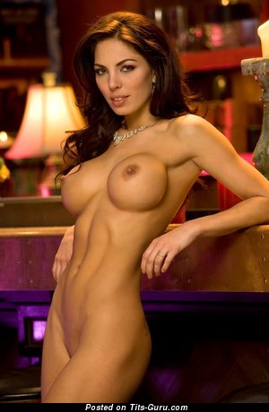Image. Adrianna Meehan - naked brunette with big fake boobies photo