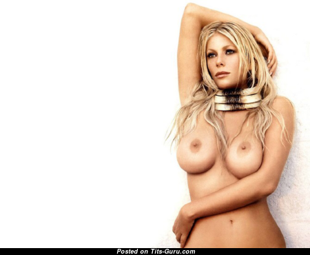 Alessia Marcuzzi - Grand Topless Italian Blonde with Grand Open Real Hooters (Porn Picture)