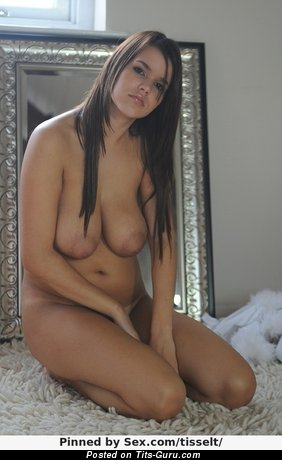 Naked amazing woman with natural tittes photo