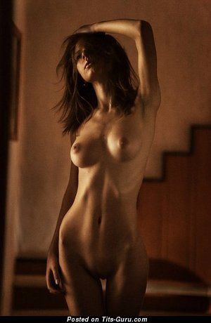 Image. Sexy topless amateur brunette pic