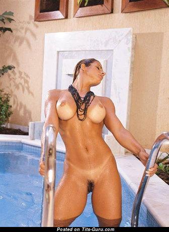 Image. Awesome woman with big fake boob image