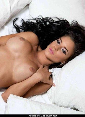 Jasmine Fernandez - Nice Asian Brunette Babe with Nice Bare C Size Boobs (Porn Wallpaper)