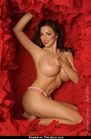 Jordan Carver - Pleasing German Miss with Pleasing Bald Round Fake Massive Tots (Hd Porn Photo)