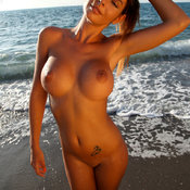 Hot woman with big fake boobs picture