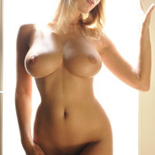 Beautiful woman with big natural breast picture