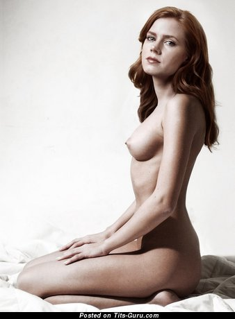 Amy Adams & Yummy Topless Italian Blonde & Red Hair Babe & Actress with Yummy Naked Real B Size Breasts, Giant Nipples, Sexy Legs (Hd Porn Photoshoot)